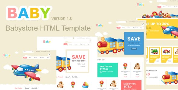 baby shop- blogger template