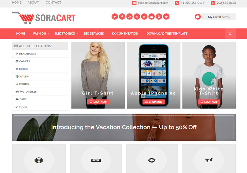 soracart- blogger template