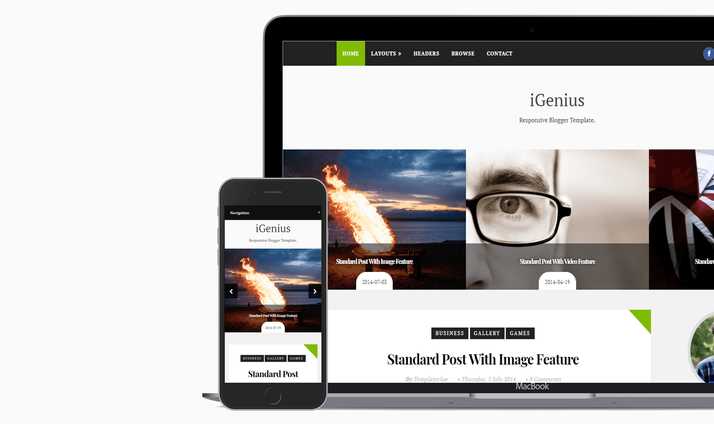 iGenius Blogger Template