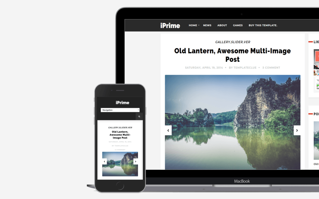 iPrime Blogger Template