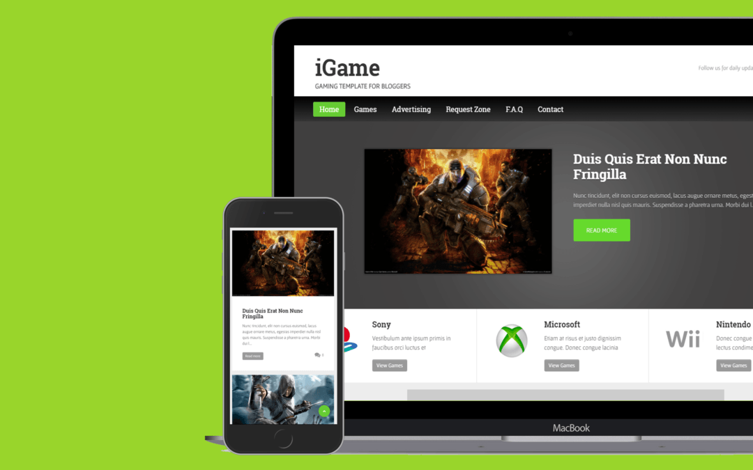 iGame Blogger Template