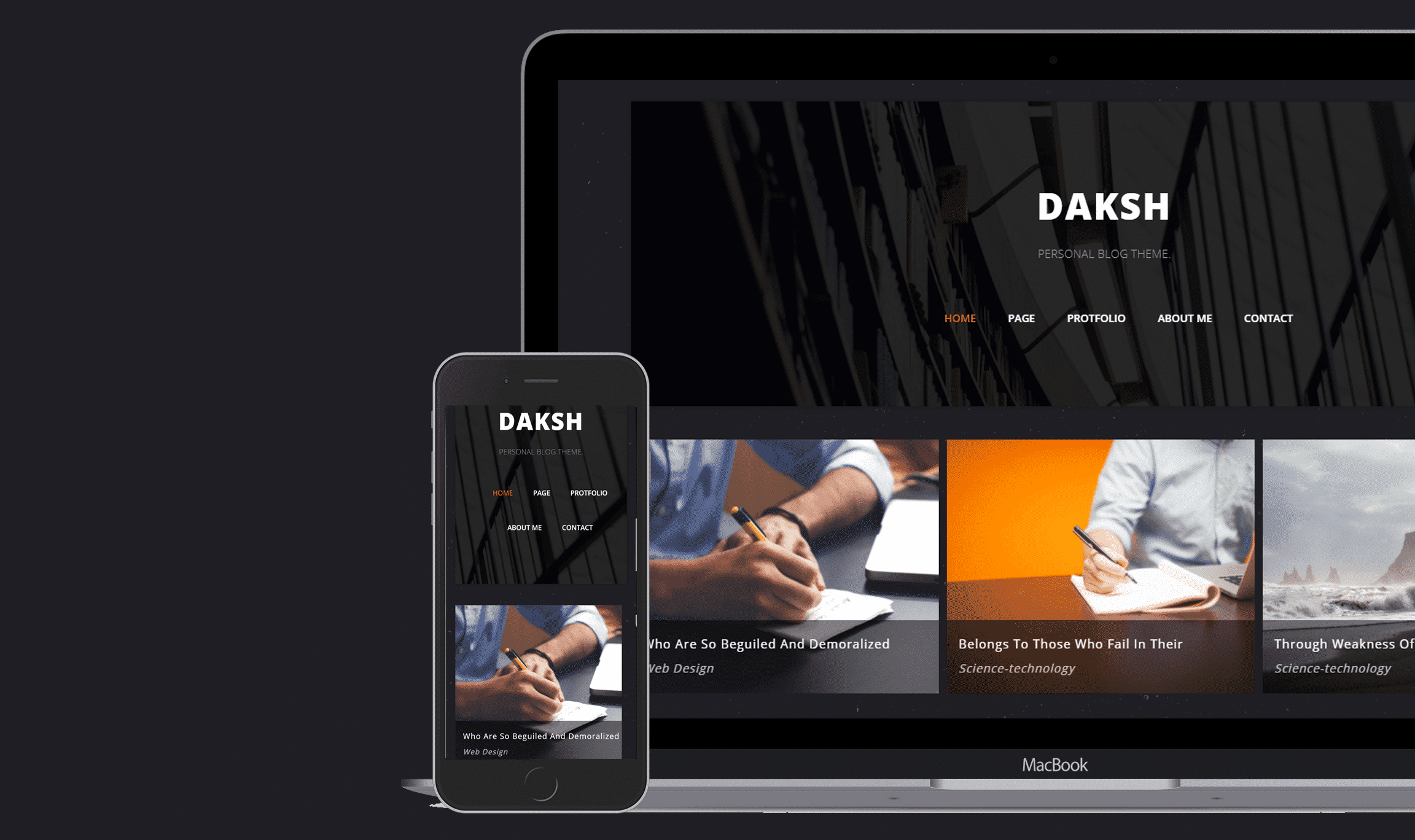 Daksh Blogger Template