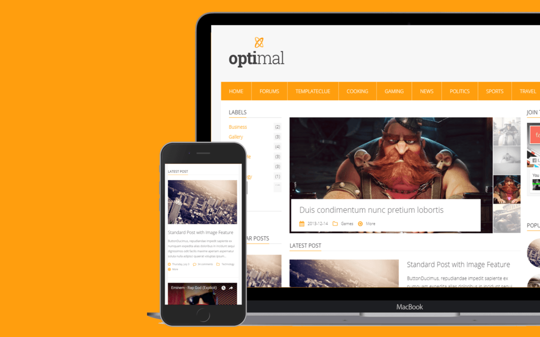 Optimal Blogger Template